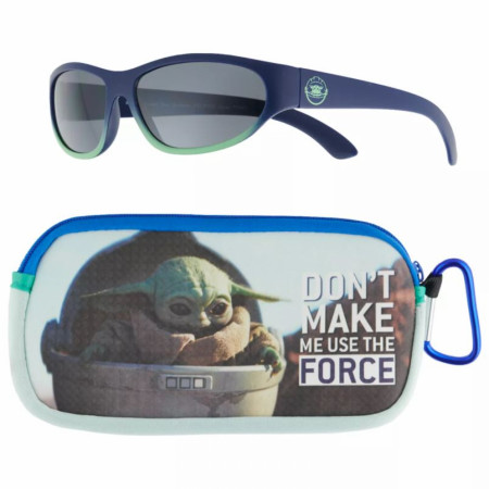 Star Wars The Child Grogu Kids Sunglasses with Carabiner Pouch