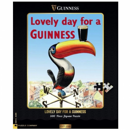 Lovely Day for Guinness Toucan 500 Piece Jigsaw Puzzle
