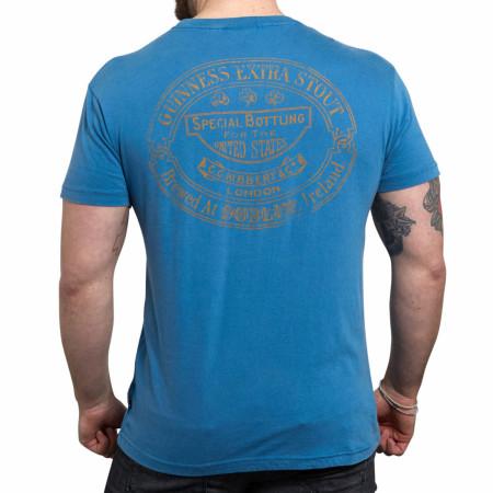 Guinness Harp Logo Blue T-Shirt