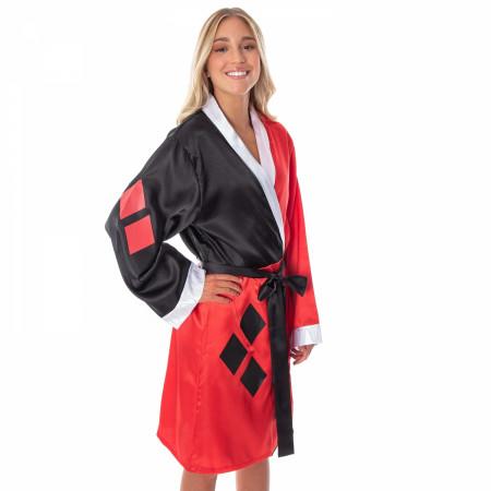DC Comics Harley Quinn Costume Silky Satin Robe