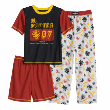 Harry Potter Property of Hogwarts School 3-Piece Pajama Set