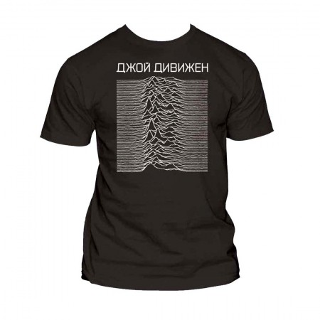 Joy Division Unknown Pleasures Cyrillic Exclusive T-Shirt