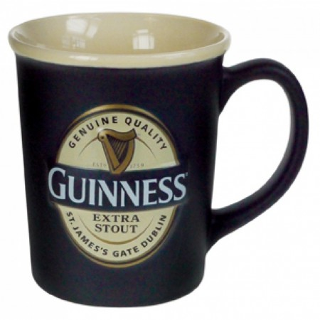 Guinness Label Embossed Mug