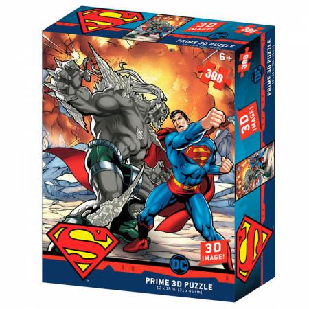 DC Comics Superman vs. Doomsday 3D Image 300pc Puzzle