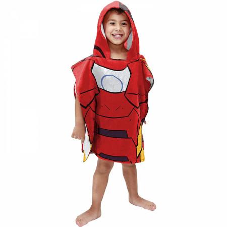 Marvel Iron Man Youth Hooded Poncho Towel