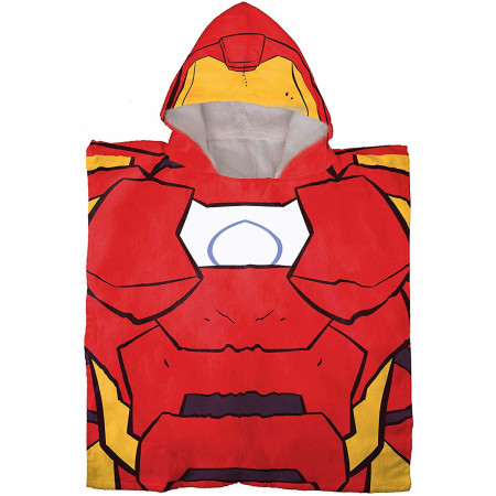 Marvel Iron Man Youth Hooded Poncho Towel