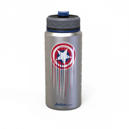 Captain America Shield Marvel Games 24oz Stainless Steel Vacuum Insulated Water Bottle