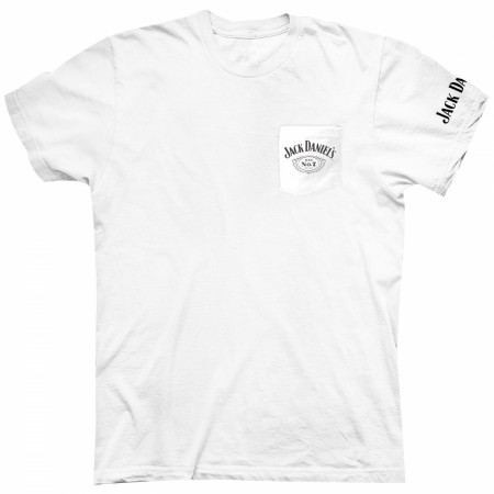 Jack Daniel's White Pocket T-Shirt