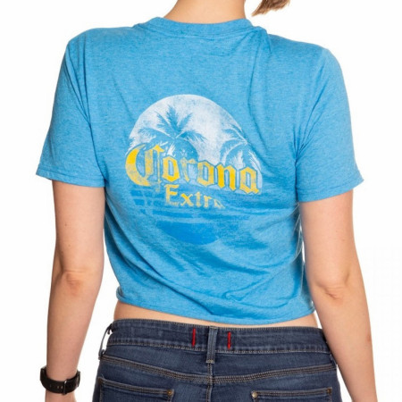 Corona Extra Women's Blue Crop Top