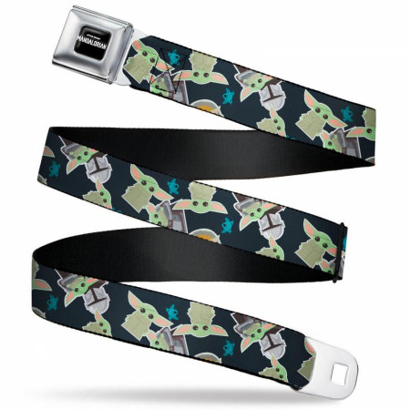 Star Wars The Mandalorian The Child Grogu and Frog Icons Seatbelt Belt