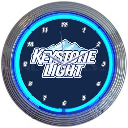 Keystone Light Neon Clock