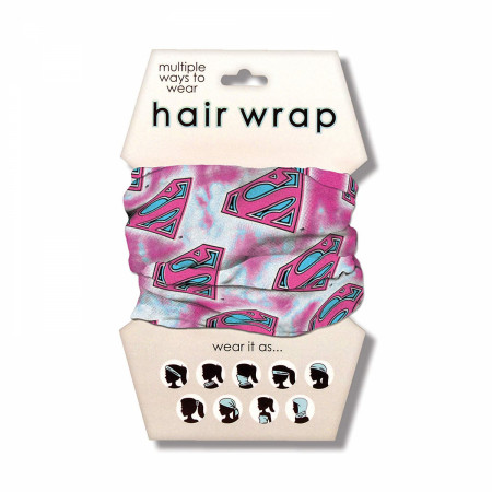 Superman Pink Hair Wrap