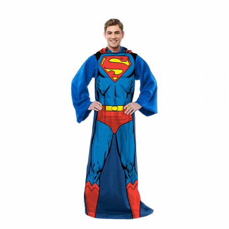 Superman In Action Adult Costume Sleeved Blanket