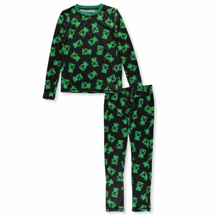 Minecraft Creepers All Around 2-Piece Boy's Pajama Set