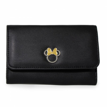 Disney Minnie Mouse Ears with Gold Bow Fold Over Wallet