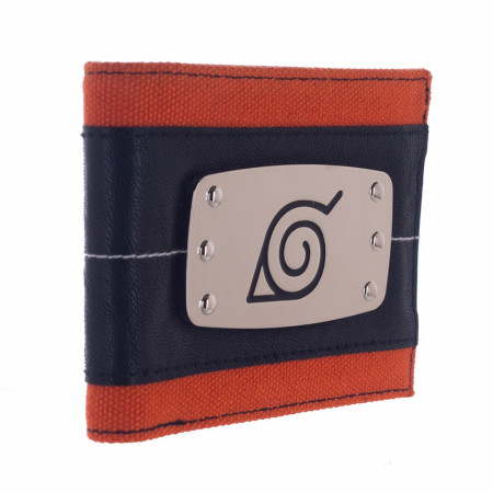 Naruto Metal Badge Bifold Wallet