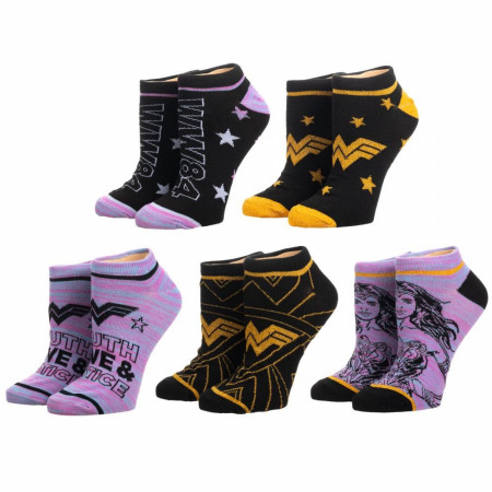 Wonder Woman 1984 5-Pair Pack of Ankle Socks