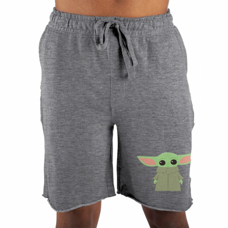 Star Wars The Mandalorian The Child Raw Edge Sleep Shorts
