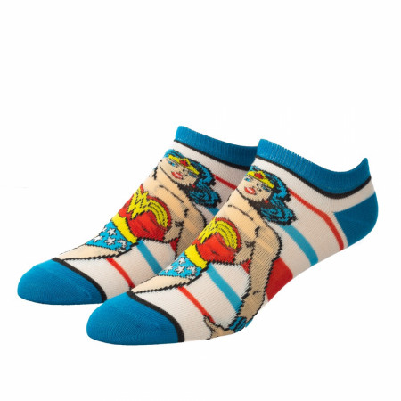 Justice League Hero Characters 5-Pair Pack of Ankle Socks
