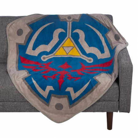Legend Of Zelda Fleece Shield Throw Blanket