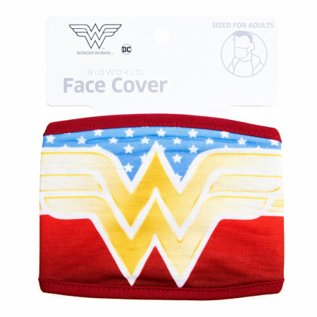 Wonder Woman Symbol with Stars Face Cover