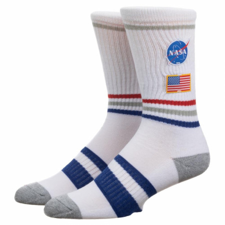 NASA Patch Crew Sock