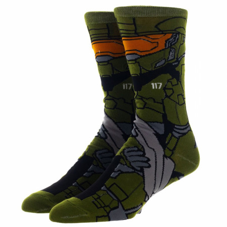Halo Master Chief 360 Character Crew Socks