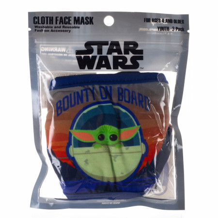 Star Wars Mandalorian The Child Youth 3-Pack of Reusable Youth Face Covers