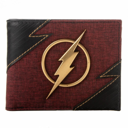 The Flash Metal Badge Bifold Wallet