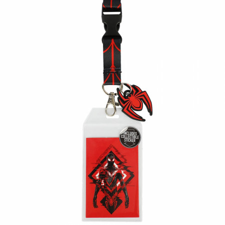 Spider-Man Miles Morales Lanyard with Rubber Charm