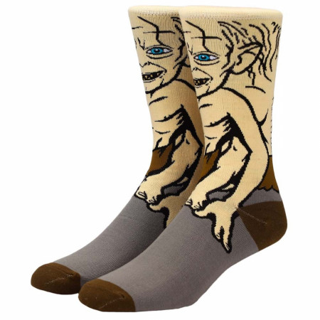 Lord of the Rings Gollum 360 Character Crew Socks