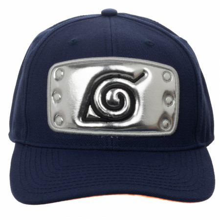 Naruto Leaf Village Forehead Protector Pre-Curved Bill Snapback Hat