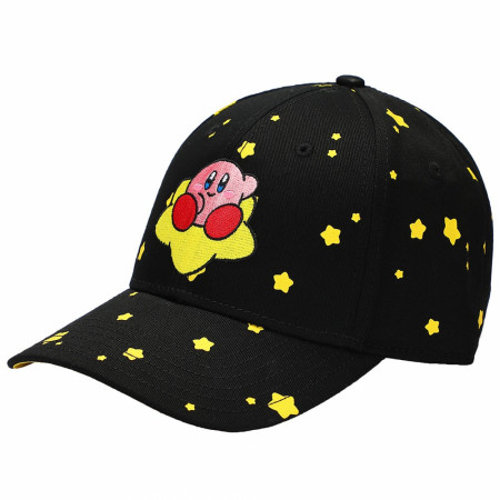 Kirby Embroidered Pre-Curved Bill Snapback Hat