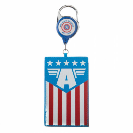Captain America Retractable Lanyard
