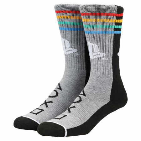 PlayStation Split Color Block Crew Socks
