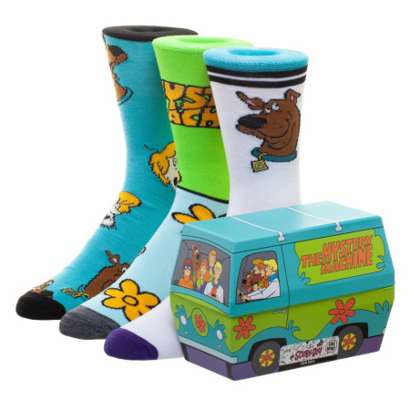 Scooby Doo Mystery Machine 3 Pack Crew Socks with Gift Box
