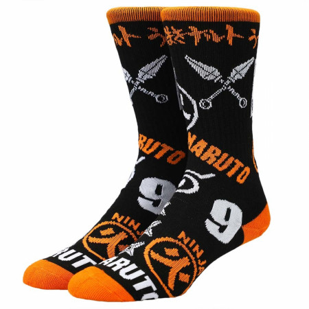 Naruto Icon Toss Crew Socks