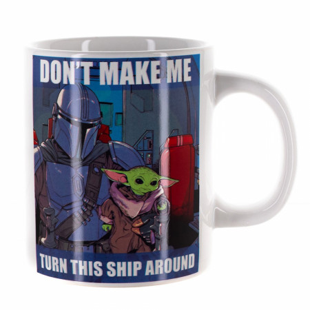 "Star Wars The Mandalorian Grogu ""Don't Make Me"" Meme 16oz Ceramic Mug"