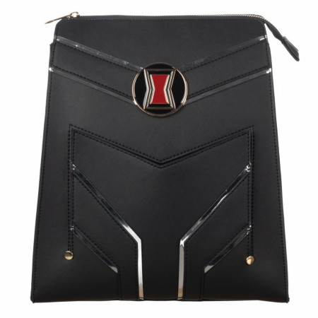 Black Widow Slim Faux Leather Mini Backpack