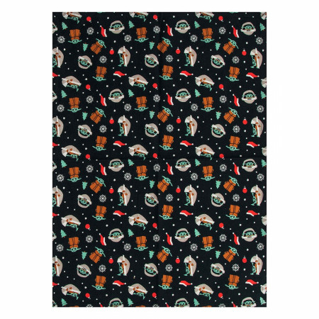Star Wars The Mandalorian Repeating Grogu Holiday Tea Towel