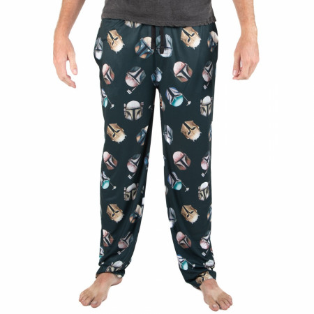 Star Wars The Mandalorian Helmets All Over Print Sleep Pants