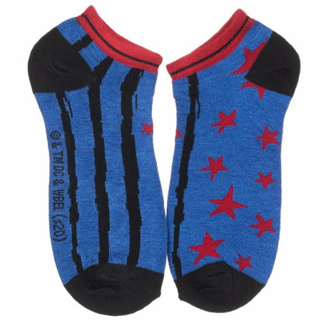 Harley Quinn Birds of Prey 5 Pair Womens Ankle Socks