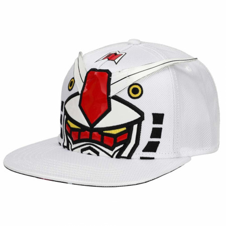 Mobile Suit Gundam Bigface Flat Bill Snapback Hat