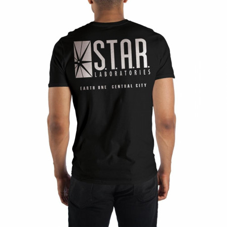 The Flash S.T.A.R Labs Front and Back Print T-Shirt.