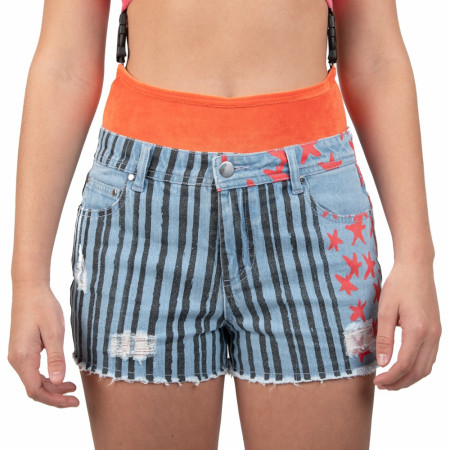 Harley Quinn Birds of Prey Cosplay Distressed Shorts