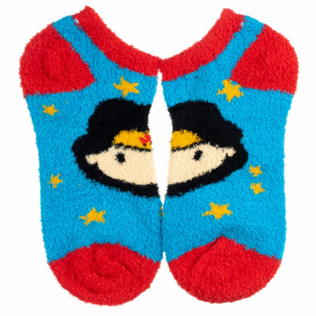 Wonder Woman Fuzzy Chenille Ankle Socks