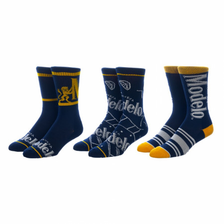 Modelo Especial Symbols and Branding 3-Pair Pack of Crew Socks