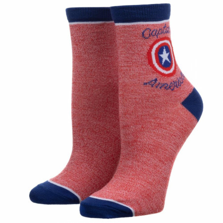 Captain America 2-Pack Anklet Socks