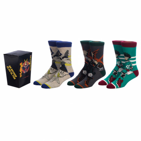 My Hero Academia Crew Socks 3-Pair Pack Box Set
