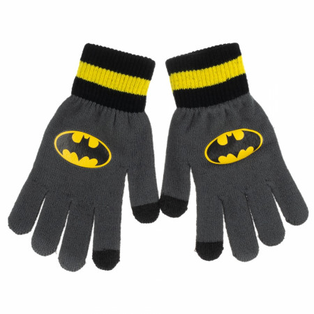 Batman Symbol Gloves with Texting Ability